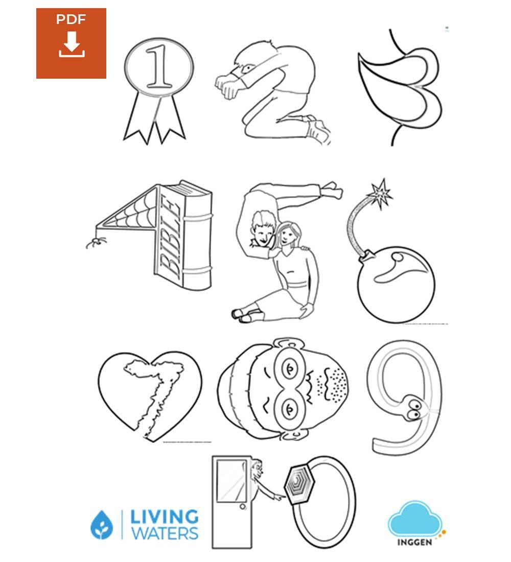 Diez Mandamientos Para Niños Para Colorear Descarga