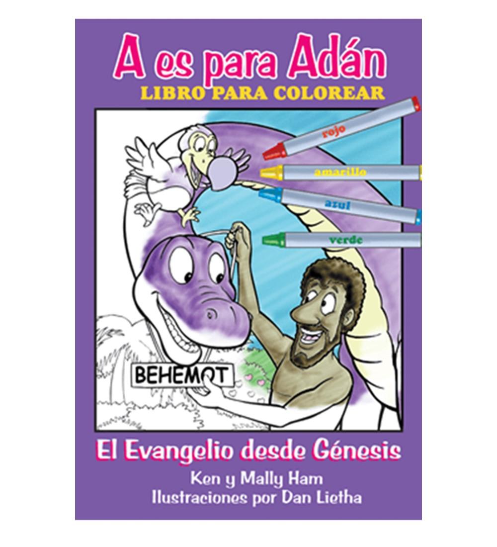 A Es Para Adán: El Evangelio Desde Génesis – Libro Para Colorear – Respuestas En Génesis